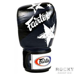 Боксерские перчатки Fairtex Nation Print, синие, 14 oz Fairtex